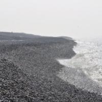 plage de galets à cayeux sur mer