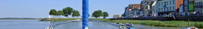 Bateau entrant à Saint Valéry sur Somme