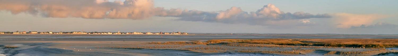 La Baie de Somme (au fond : Le Crotoy)